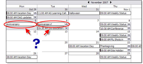 Which day is my anniversaryon?