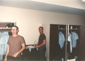 Me, ironing.