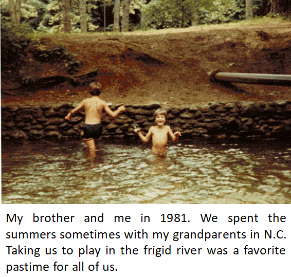 Chris and Robert in the River