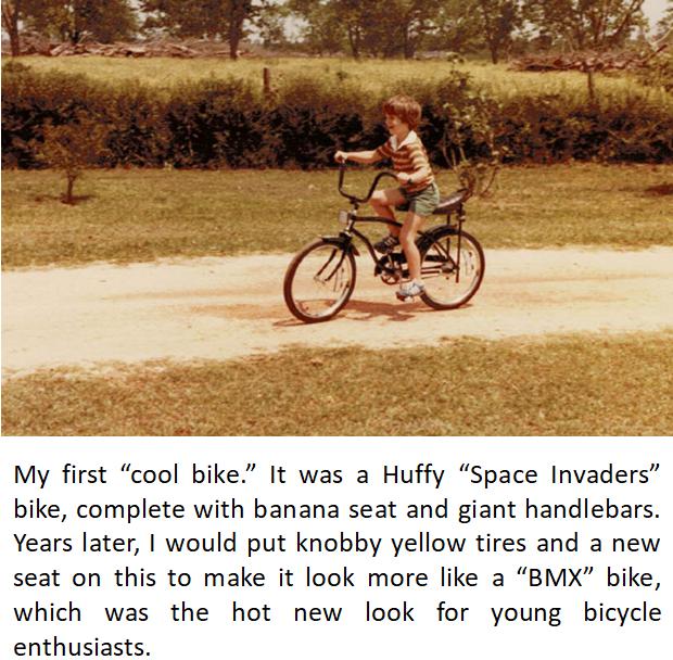 Chris Riding Bicycle